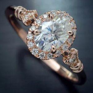 NEW 18K ROSE GOLD DIAMOND RING